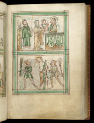 The Presentation In The Temple And The Flagellation, In A Psalter